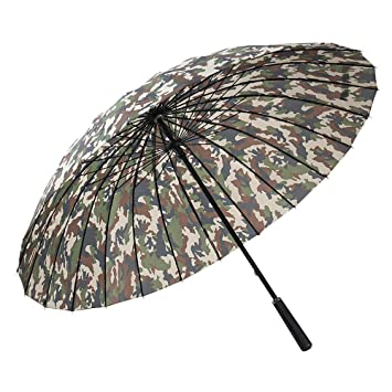 lonior 52 pulgadas Gran tamaño irrompible camuflaje color Cazadores paraguas 24 aletas extra Tormenta Cartel impermeable