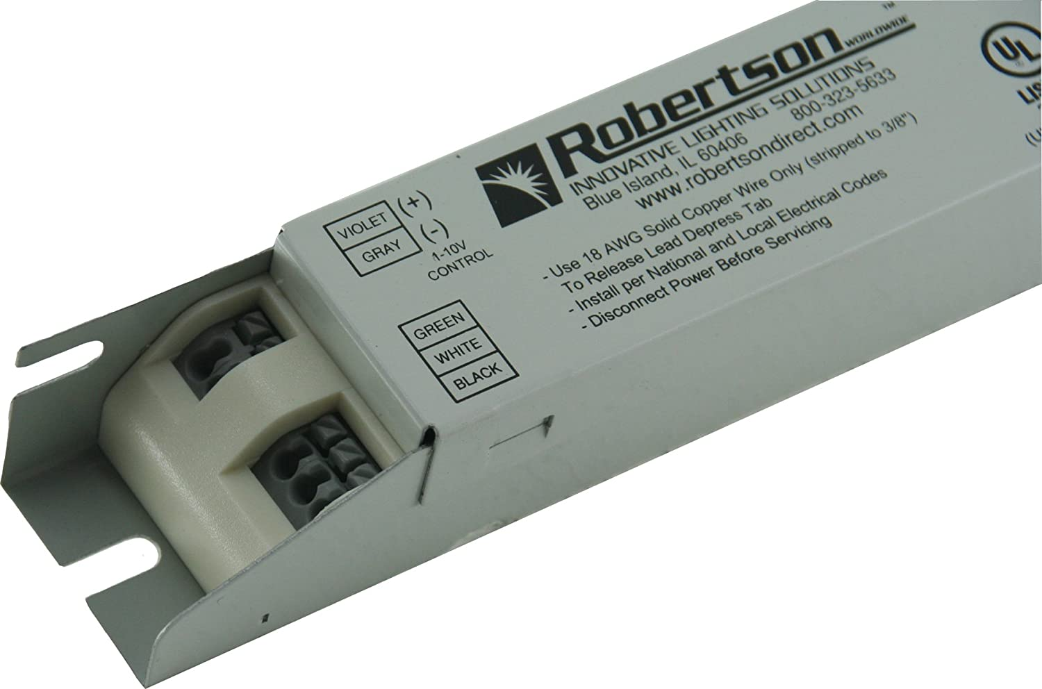 ROBERTSON 3P20073 PST128T5IVCD /A Fluorescent Dimming eBallast for 1 F28T5 Linear L& Program Start 100-277Vac 50-60Hz 0-10V Dimming Normal Ballast ...  sc 1 st  Amazon.com & ROBERTSON 3P20073 PST128T5IVCD /A Fluorescent Dimming eBallast for 1 ...