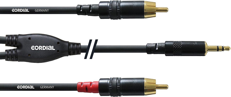 Cordial Y Kabel Stereo 2 Rca Miniklinke 1 5 M Musikinstrumente