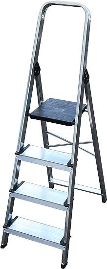 Arcama EA04 Escalera domestica, GRIS PLATA, 12 cm: Amazon.es: Bricolaje y herramientas