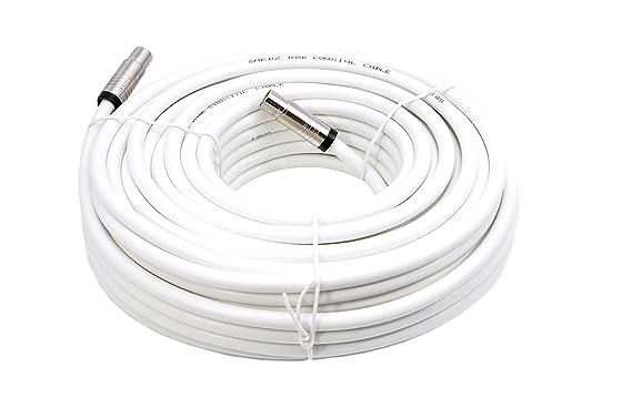Mast Digital YCAB01K - Cable coaxial de 25 metros, blanco: Amazon.es: Electrónica
