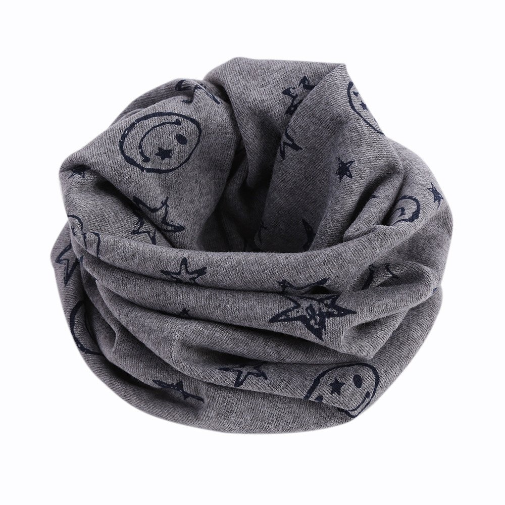 BURFLY Baby Boys Girls Children Neck Warmer Cover, Kids Cotton Stars Printed Scarf Shawl Winter Neckerchief