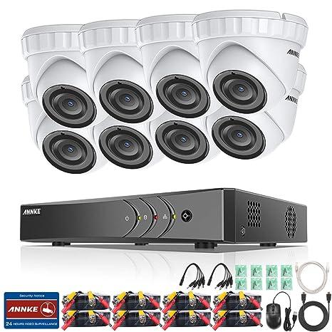 ANNKE Kit de Seguridad 3MP 8CH DVR y 8 Cámaras de vigilancia 3MP Metal (H