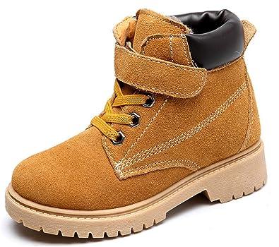 d63ca2042609d YOGLY Bottes Bébé Garçon Fille Chaussures fourrées Mode Automene Hiver  Bottines de Neige Boots Enfant Doublure