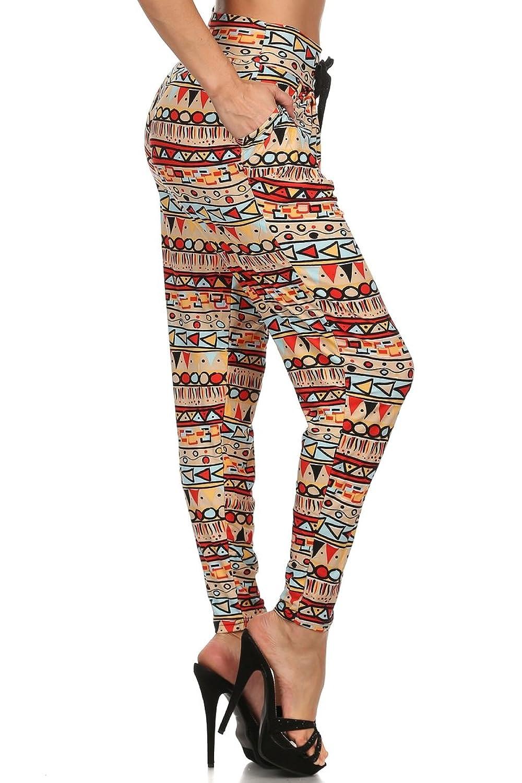 Women's Harem Jogger Pants Stylish With Drawstring Elastic Waist Fashion Design