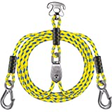 SELEWARE 7.87ft Heavy Duty Boat Tow Harness, 3 Permanent Antirust Stainless Steel Connector and Pulley for Tubing…