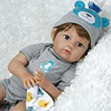 Paradise Galleries Reborn Baby Doll Like Lifelike Realistic Doll Vinyl 20 inch Baby Boy Doll Gift Lions & Tigers & Bears, Oh My!