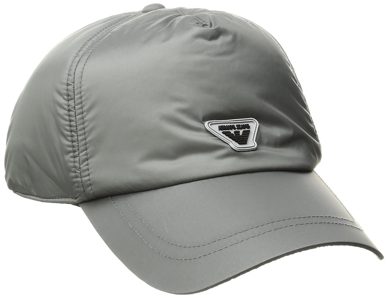 Armani Jeans sombrero ajustable hombre nuevo gris: Amazon.es ...