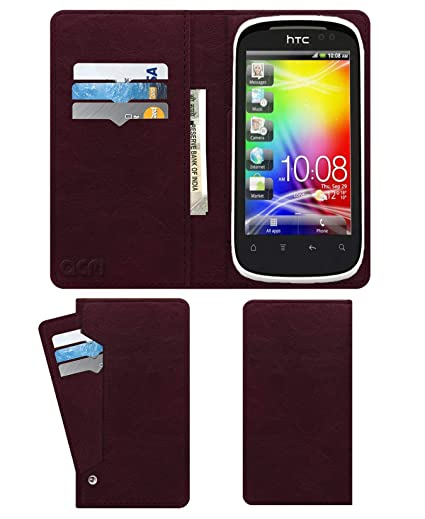 new style 5873c 216d3 Acm Wallet Leather Flip Carry Case for HTC Explorer: Amazon.in ...