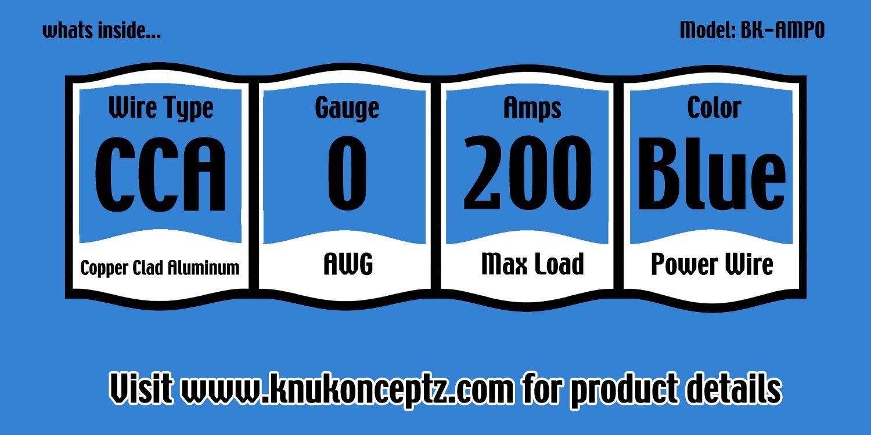Kit Completo de Amplificador de instalaci/ón con Cable RCA KnuKonceptz Bassik