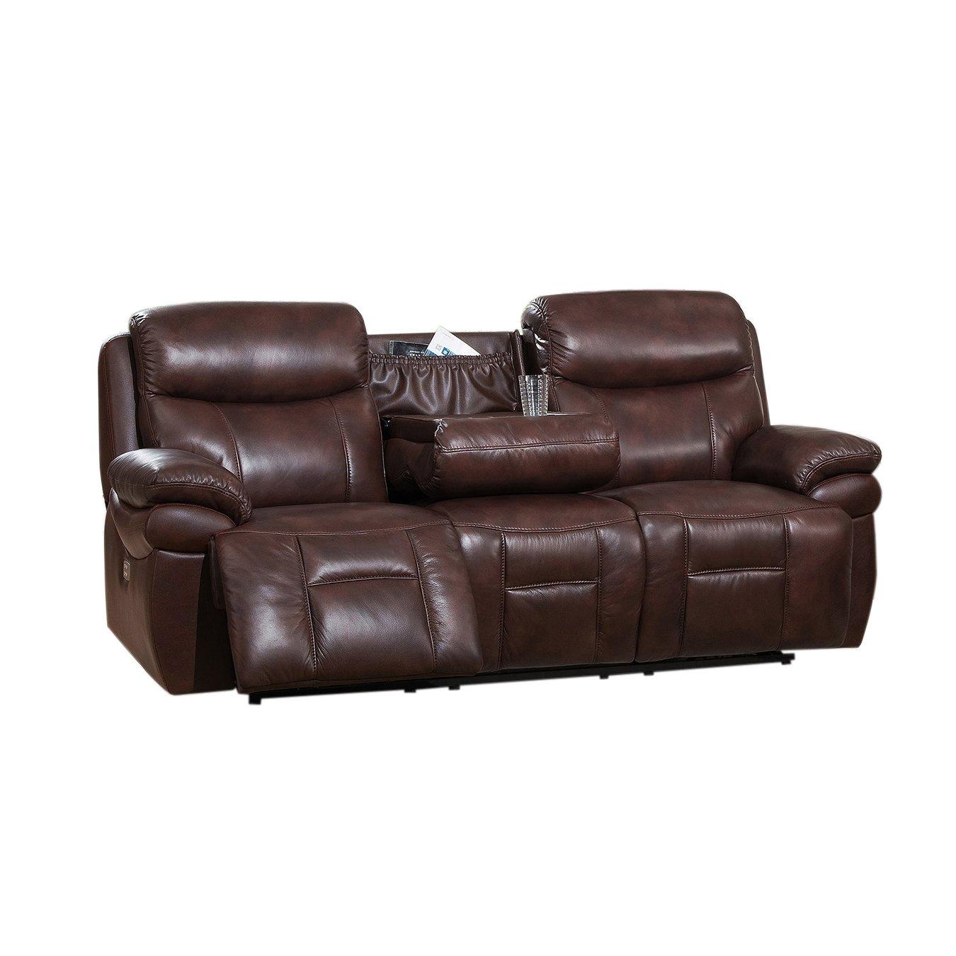 Amazon.com: Coja by Sofa4life Sentinel Leather Sofa ...