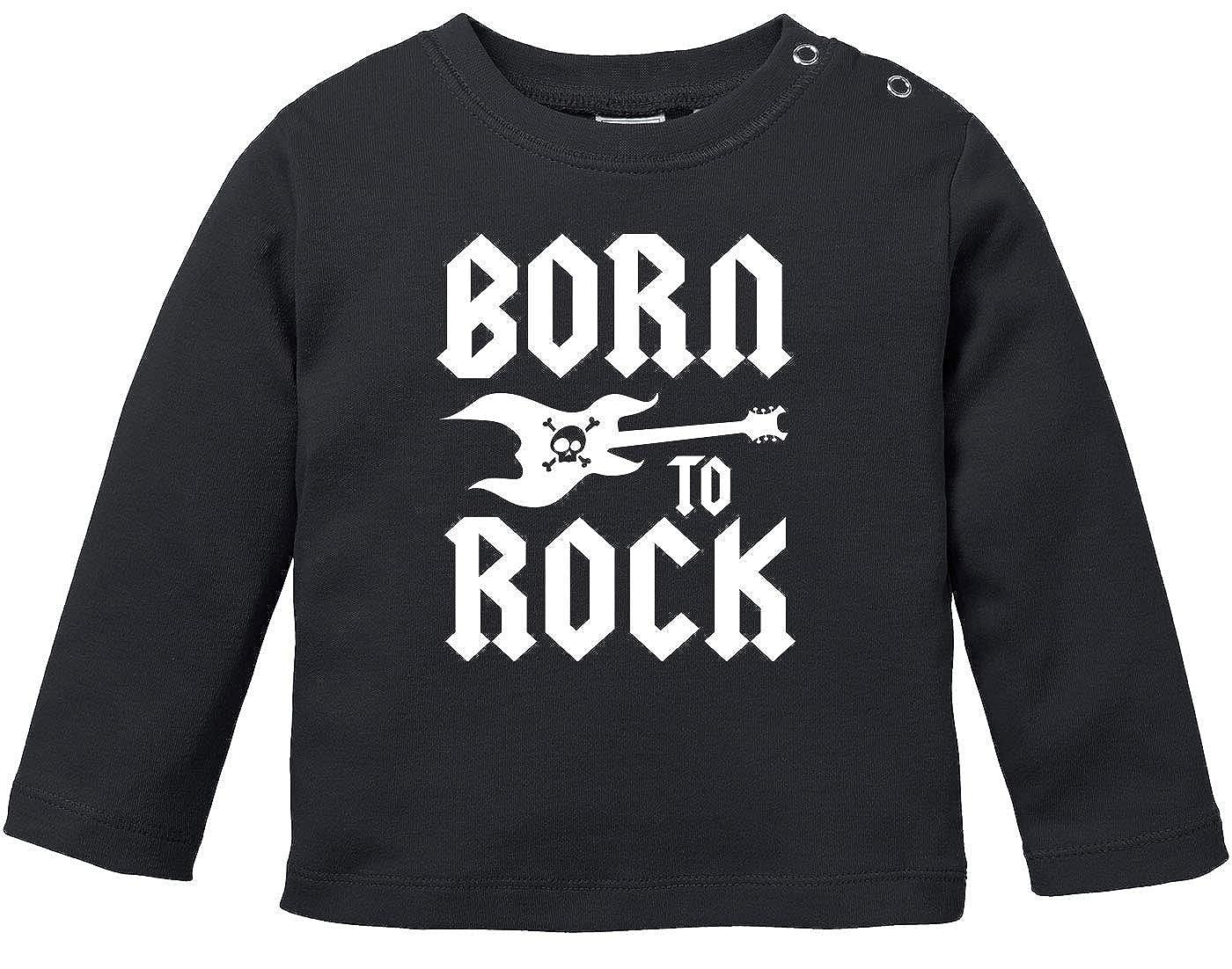MoonWorks/® Baby Langarmshirt Babyshirt Born to Rock Hardrock Heavy Metal Jungen M/ädchen Shirt
