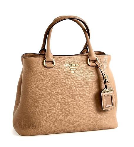 6c84839d11 Prada Women's 1BA058 Brown Leather Shoulder Bag: Handbags: Amazon.com