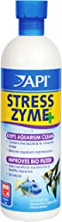 API STRESS ZYME Freshwater and Saltwater Aquarium Cleaning Solution 473 ml Bottle