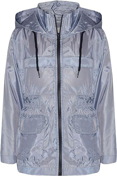 Kids Girls Boys Aqua Hooded Raincoats Cagoule Lightweight Jackets Rain Mac 5-13