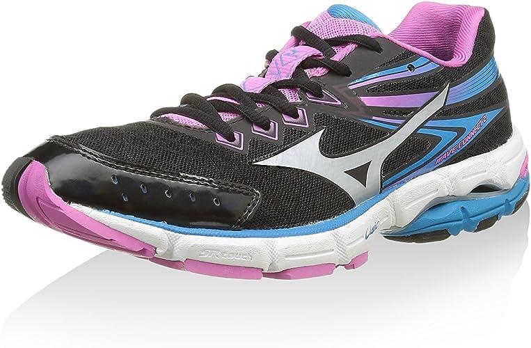 Mizuno Zapatillas de Running Wave Connect 2 Wos Negro/Turquesa EU 40.5 (US 9.5): Amazon.es: Zapatos y complementos