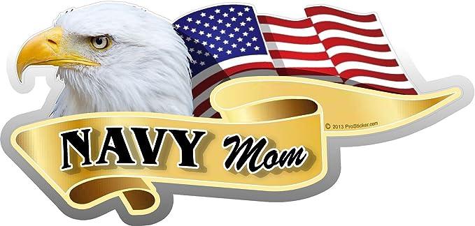 One American Flag Navy Mom Eagle Decal Sticker ProSticker 933V