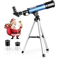 TELMU Astronomical telescope, super lightweight tripod to observe lunar celestial stars, suitable for beginners amateur children - Christmas gifts for children