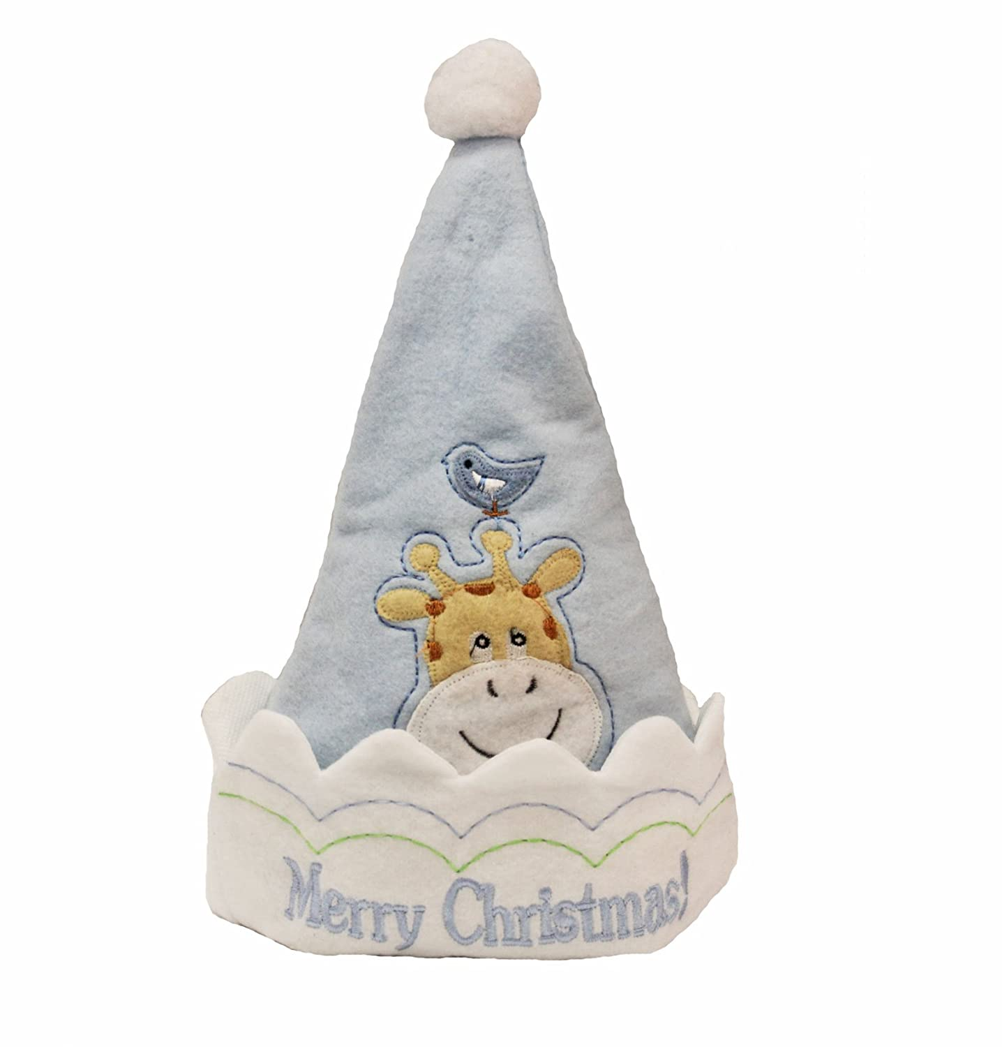 nice Holiday Living Baby Boy Merry Christmas Hat - Giraffe Blue free shipping