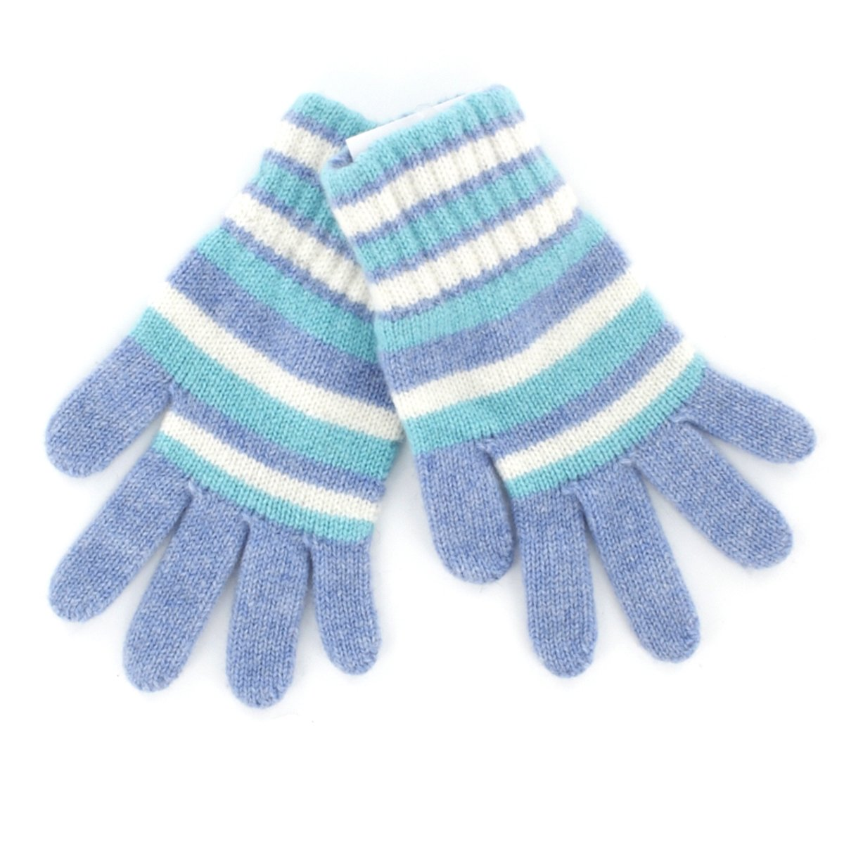Children's Stripey Cashmere Gloves Made in Scotland