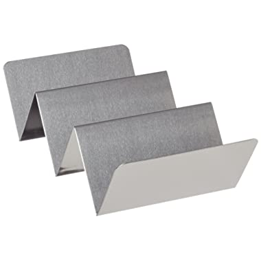 American Metalcraft TSH3 Stainless Steel Taco Holder, 2-3 Compartments, 4  x 8 , Silver