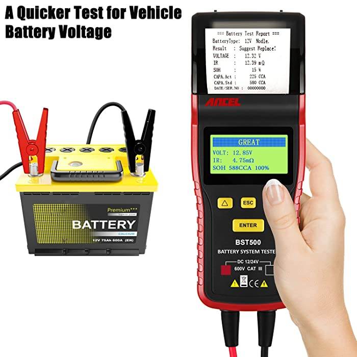 The best battery tester should also feature other devices like built-in printers and PCs for detailed test analysis.