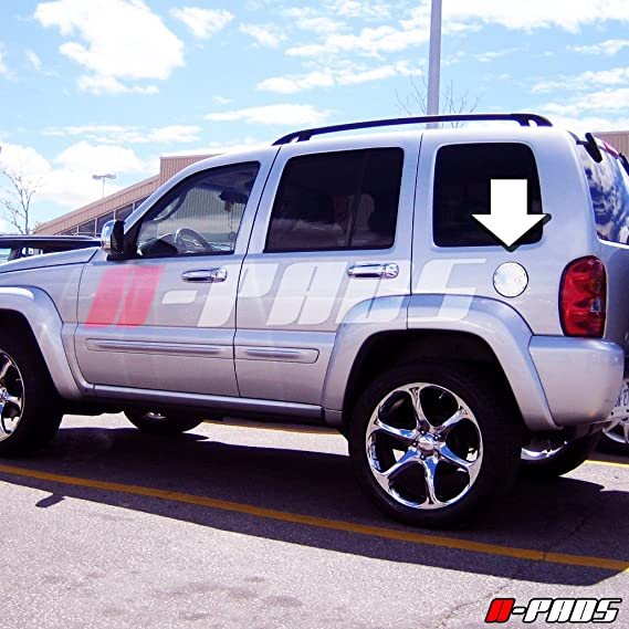 Chromed Tank Fuel A-PADS Chrome Gas Door Cover for Jeep LIBERTY ...