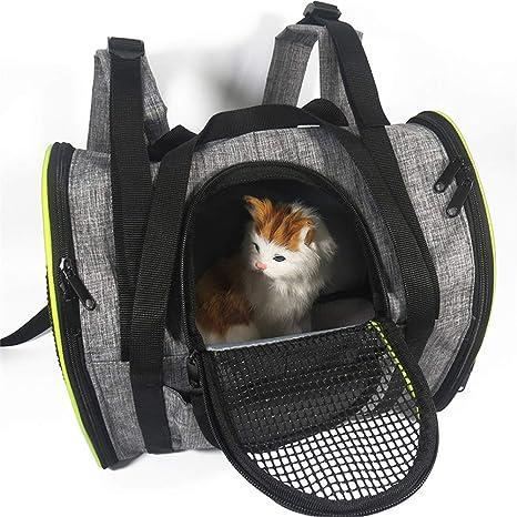 BulzEU - Transportín de mascotas de cara suave mediano - Mochila ...
