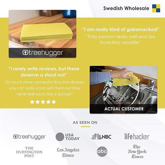 /Öko Langlebig Waschbar - Schwedische Sp/ültuch Schwamm biologisch abbaubar Anneko Design Swedish Dishcloth Apples