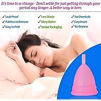 Ureka Medical Grade Hygiene Reusable Menstrual Cup with Beautiful Pouch Bag for Women, Medium (Pink)