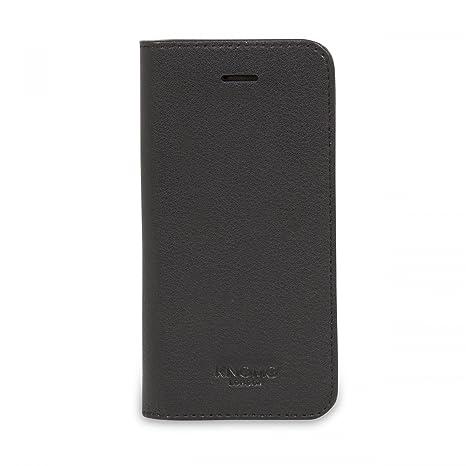 size 40 87c87 22fdb Knomo Folio Cover Case for iPhone SE - Black: Amazon.co.uk: Electronics
