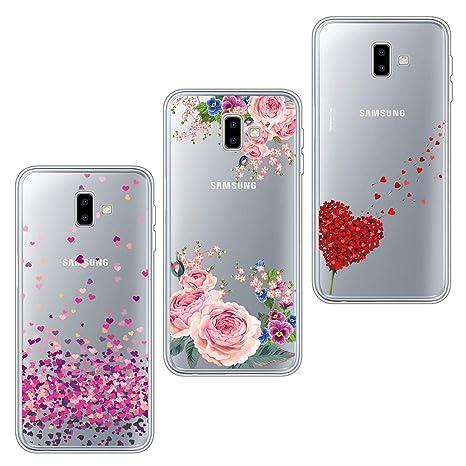 newest collection d2199 bffcf ivencase 3X Cover, Galaxy J6 Plus Cover Silicone TPU Flessibile Morbido  Gomma Opaco Custodia Antiscivolo Satinato, Ultra Sottile Protettiva per  Galaxy ...