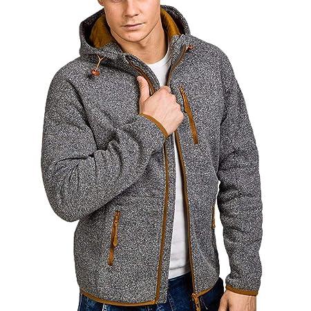 Amazon.com: Teresamoon Mens Autumn Winter Casual Zipper Long ...