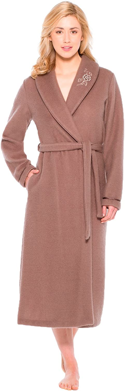 Thermovitex - Robe de Chambre en Molleton courtelle, col châle