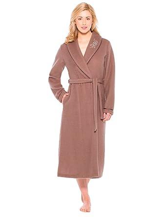 14ebb7e29d16f Thermovitex - Robe de chambre en molleton courtelle, col châle ...
