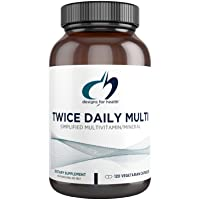 Designs for Health Twice Daily Multi - Iron-Free Adult Multivitamin Supplement with...