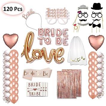 Tumao 120 Stuck Verlobung Hochzeit Deko Bride To Be Rosegold