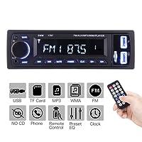 ieGeek Bluetooth autoradio MP3, USB/ricevitore con ricevitore audio/lettore MP3/radio FM/FM per Samsung/iPhone, DVD Musica/USB/SD/AUX Vivavoce e microfono incorporato Autoradio