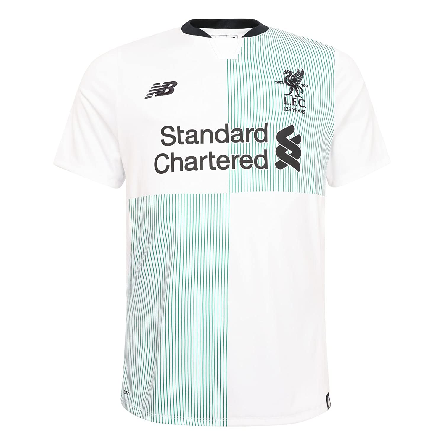 separation shoes cc1aa 03f41 Liverpool FC New Balance Polyester White Mens Replica Away T Shirt Short  Sleeve Standard Fit Ribbed Neckline Available Sizes S,M,L,XL,2XL,3XL from  LFC ...