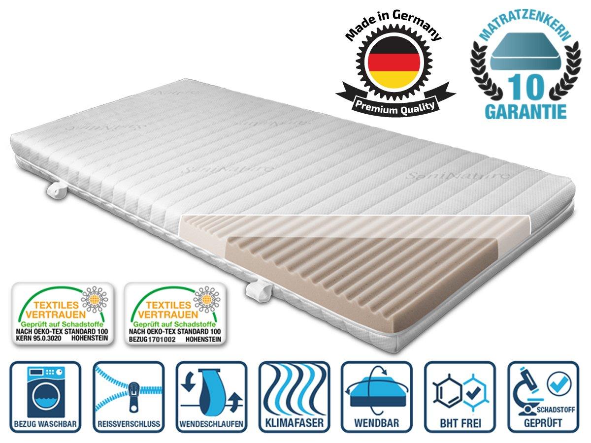 UpMat RG 45Loft Bed Mattress for Kids and Youths 90x200cm Made in Germany, foam, weiss, 90 x 200 cm Bettenhaus