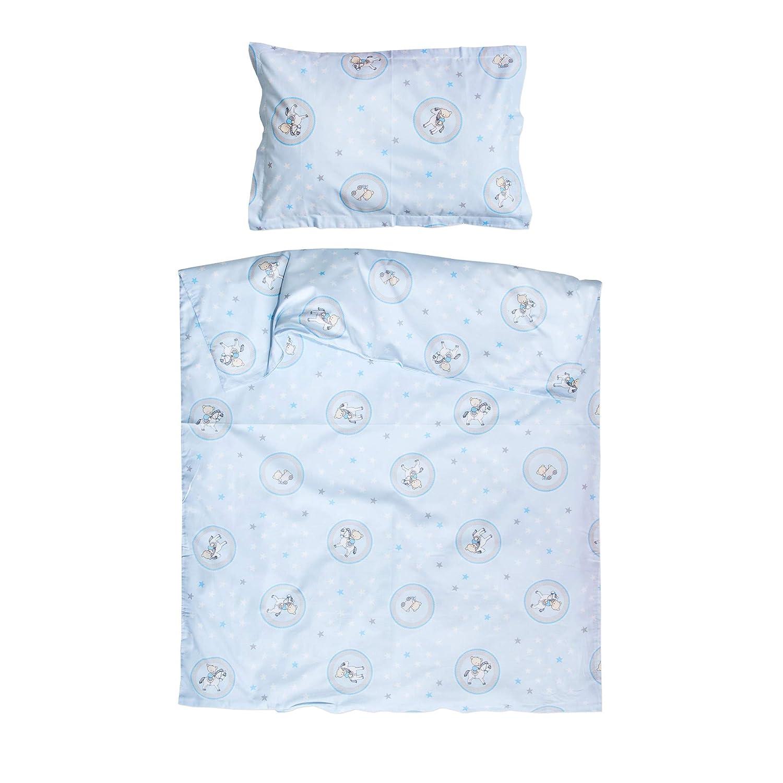 PatiChou 100/% Baumwolle Baby Bettw/äsche B/är und Pferd Bettbezug 80x80 cm und Kissenbezug 35x40 cm