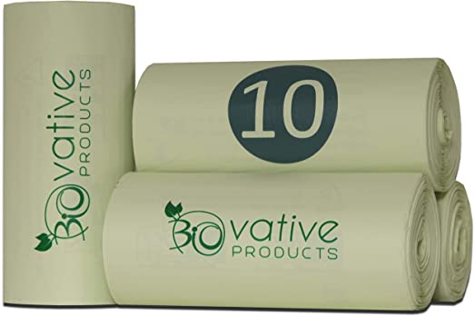 Bolsas de basura orgánica compostable 10L con y sin asa - 100 ...