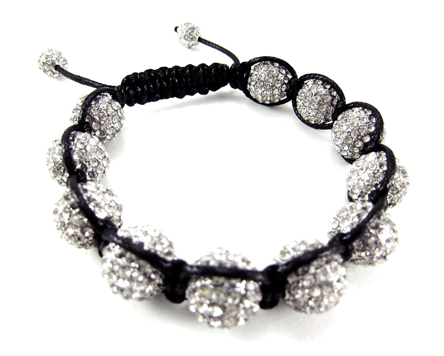 12mm Fully Iced Out Clear White Adjustable Bracelet + Gift Box
