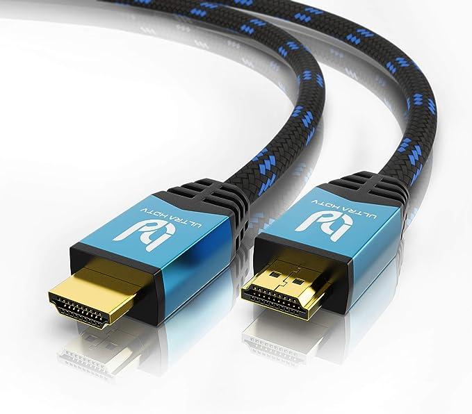 Ultra HDTV Premium – 10m 4K Cable HDMI 2.0b | 4K/60Hz (sin interferencias), HDR, 3D, ARC, Ethernet: Amazon.es: Electrónica