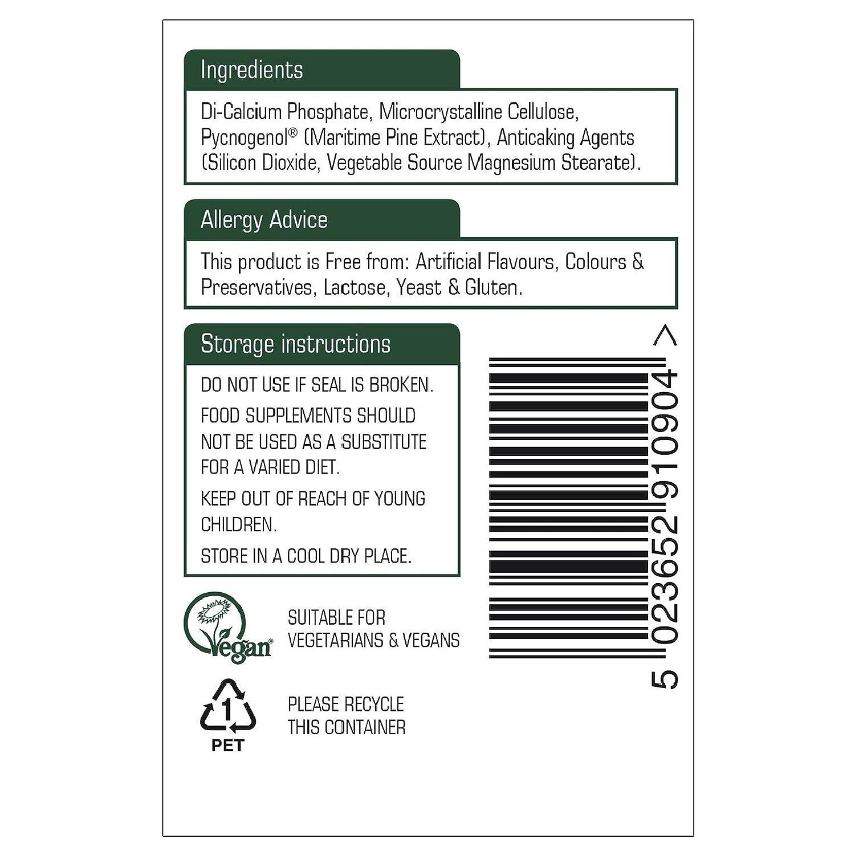 Natures Aid Pycnogenol - 30mg 90 Tablets