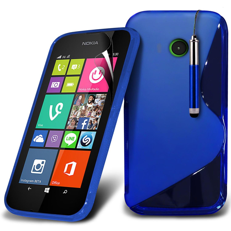 (Azul) Nokia Lumia 530 la línea Protectora Gel hidro-ola piel cubierta de la caja , Lápiz retráctil y Protector de pantalla LCD de Spyrox: Amazon.es: ...