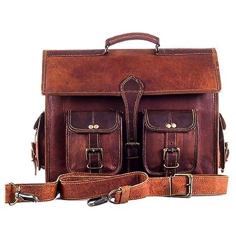 08b3b711cd18 Mk Bags vintage bags genuine leather messenger, Laptop bag cum office bag  541: Amazon.in: Bags, Wallets & Luggage