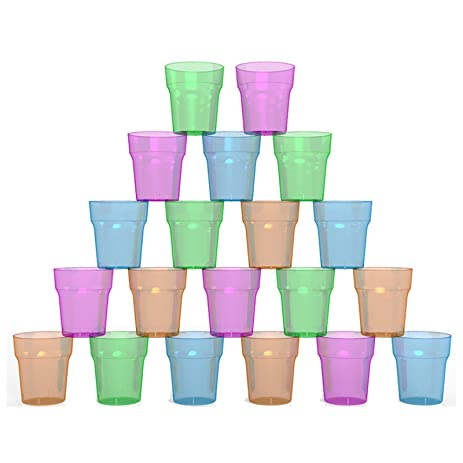Beautiful Stallion Barware (Polycarbonate) Shot Glass   Disposable   60ml   Pack Of  100 Mix