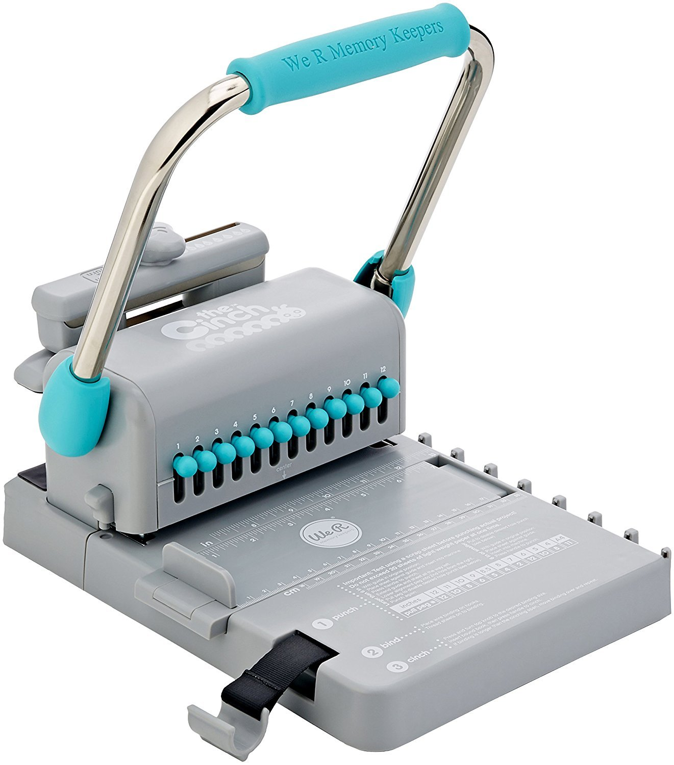 The Cinch Book Binding Machine, Version 2 by We R Memory Keepers   Teal and Gray