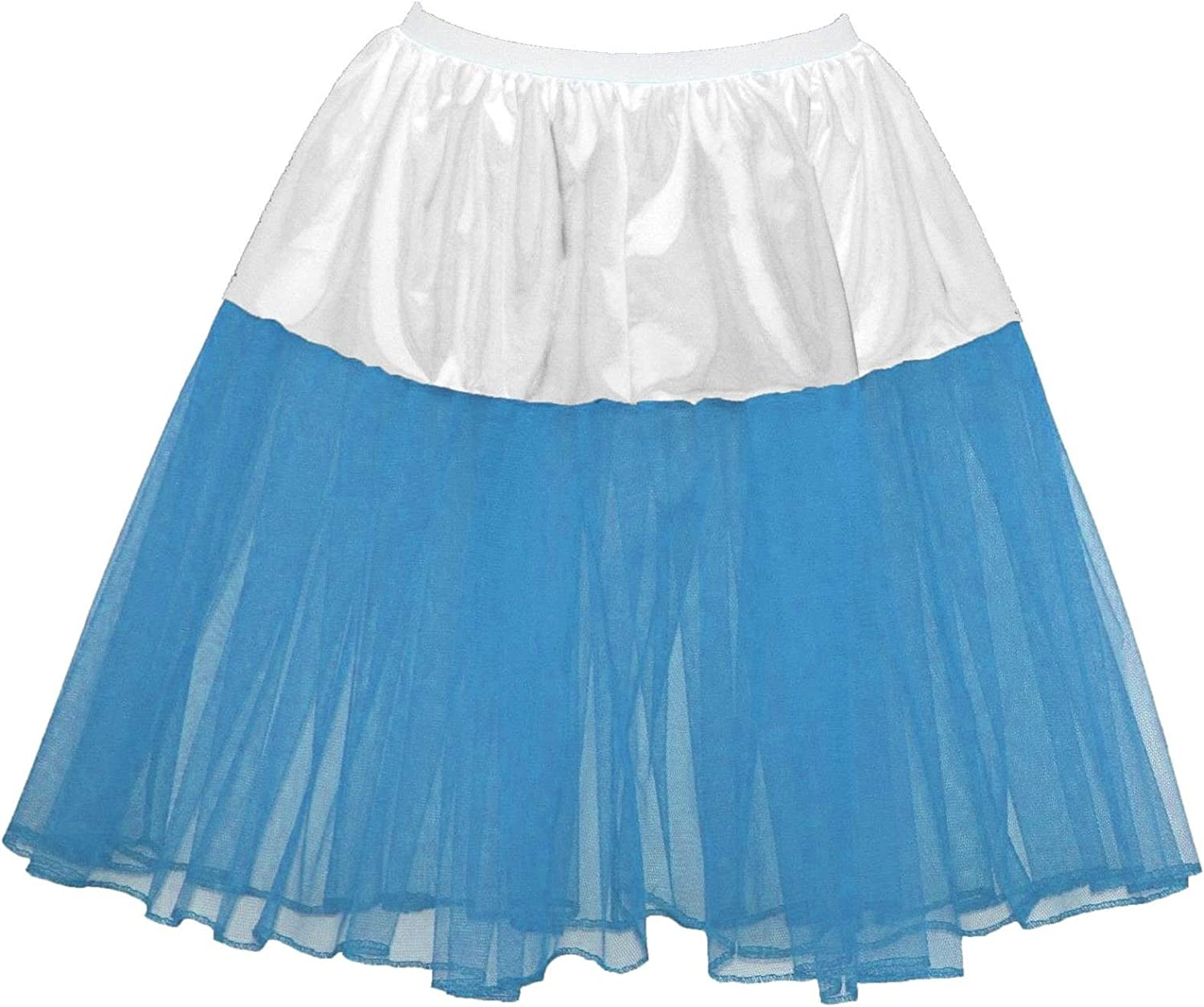 Baby Pink Age 6-12 Childrens 16 Rock /& Roll UnderSkirt Petticoat With White Trim